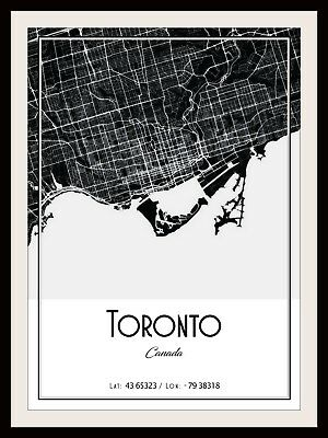 VANCOUVER CITY MAP POSTER PRINT MODERN CONTEMPORARY TRAVEL IKEA FRAMES CITIES