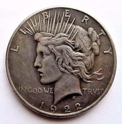 Two Face Coin Harvey Dent 1922 Silver Peace Dollar Double Sided Heads