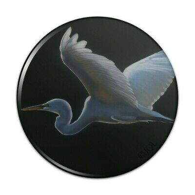 Fashion Jewelry charms Great White Egret Heron in Flight Antiqued Bracelet Charm with Lobster Clasp
