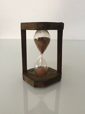 Old Vintage Wooden Hourglass Egg Sand Timer