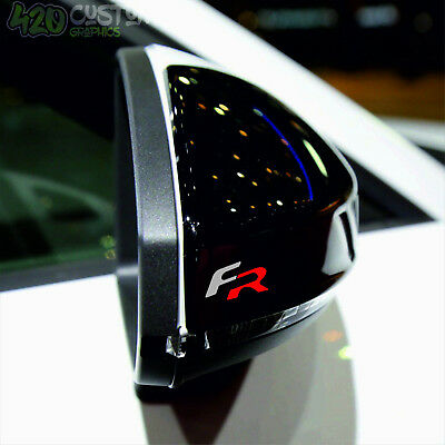 4 x SEAT FR  Mirror  Decal Sticker Detail-Best Quality-Many Colours