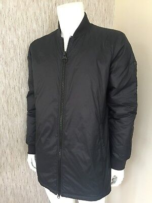 Barbour Black B Intl Nomex Lightweight Quilted Padded Jacket Bnwt Size L
