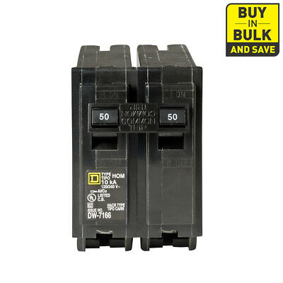 Square D Homeline QO -Amp Single Double Pole Circuit Breaker Electrical Breakers