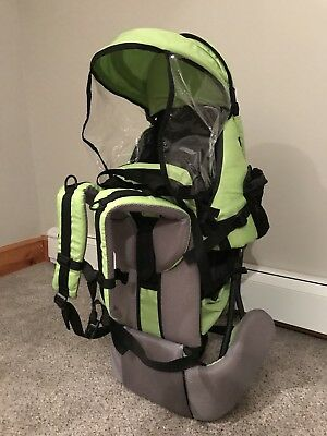 ef7b235da0d Clevr Baby Toddler Backpack Camping Hiking Child Kid Carrier w Shade  VisorGREEN