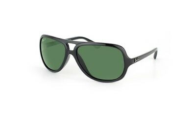 Ray-Ban RB4162 Aviator Sunglasses with Black Frame and Green Polarized Lenses