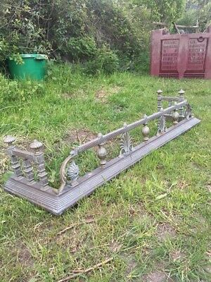 Vintage Ornate Brass Fire Surround Fender