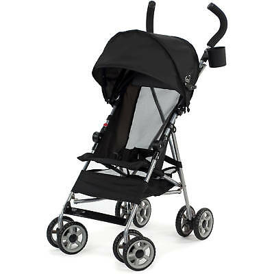 Kolcraft Cloud Lightweight Easy-Fold Umbrella Stroller with Sun Canopy, Black