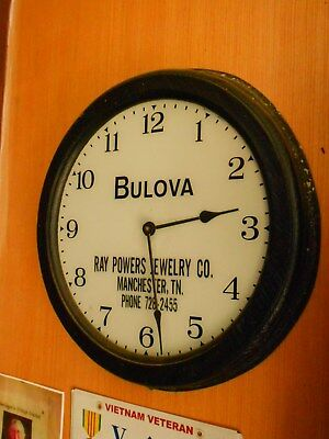 Vintage Advertising Wall Gallery Clock - Bulova - 1962 - Jewelry  Manchester TN