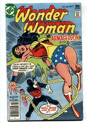 WONDER WOMAN #236 1977-Armageddon COVER comic book DC BRONZE AGE