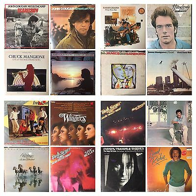 "ROCK & ROLL Music Albums 33rpm LP 12"" Vinyl Records $7 each album (see the list)"