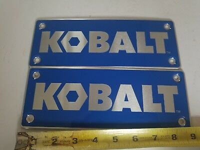 KOBALT Tools 9 inches Tin Metal Advertising Sign Blue Lot of 2 no 71