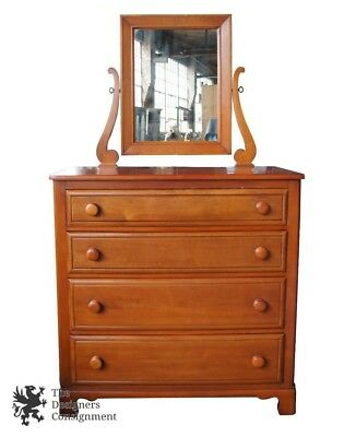 Antique National Furniture Co. Early American Primitive Maple Dresser & Mirror