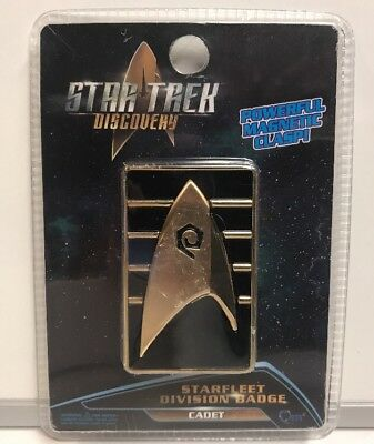 Star Trek Discovery QMx Magnetic Starfleet Division Cadet Badge , NEW