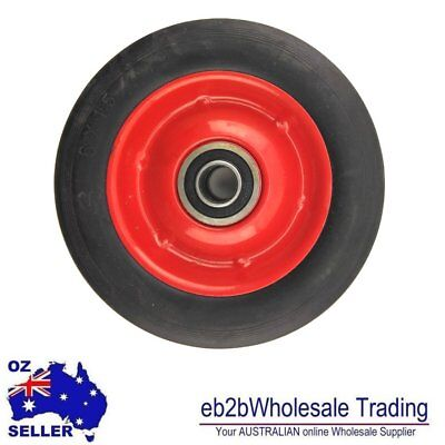 "6"" Solid Rubber Jockey Trolley Wheel with 1/2"" 5/8""Inch Bore Puncture Proof"