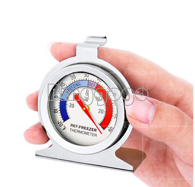 1Stks Temperature Refrigerator Freezer Dial Type Thermometer Stainless Steel