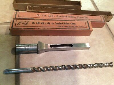 "Delta Milwaukee 3/8"" Hollow Mortise And Chisel Bit Set - 3/8"""