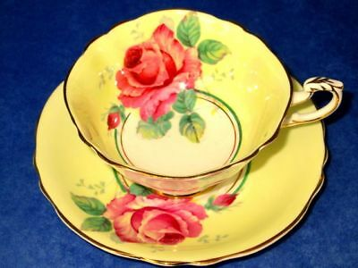 Paragon Lovely Yellow Humongous Rose Fine Bone China Cup & Saucer