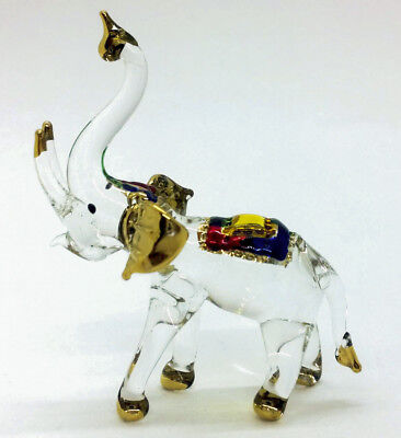 Handmade Elephant Art Glass Blown Wild life Animal Figurine Collectible gift