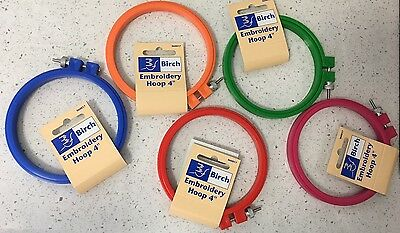 "Birch 4"" - 10cm Embroidery Hoop - Choice of colours -  Cross Stitch Embroidery"