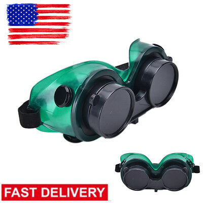 Welding Goggles With Flip Up Glasses for Cutting Grinding Oxy Acetilene torch US