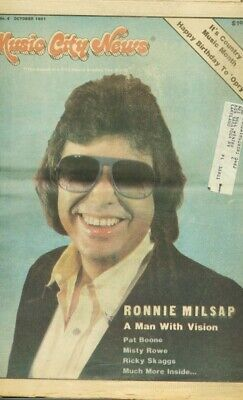 Music City News 1981 Oct-Ronnie Milsap-Country Vg