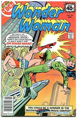 WONDER WOMAN #251 1979-girl fight COVER-DC BRONZE AGE-vf VF