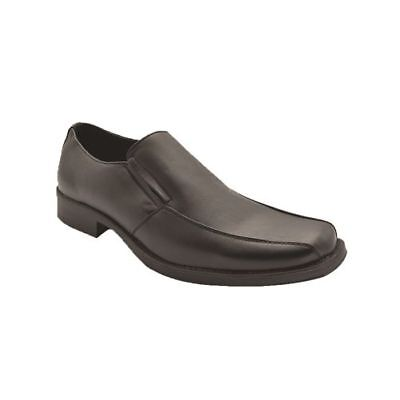 MENS GROSBY TRUE TWO LEATHER Black Dress Work Casual Formal Men Slip On Shoes