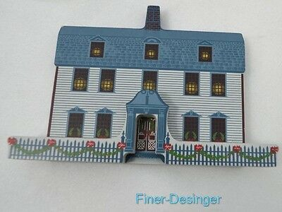VINTAGE 1994 SHELIA'S DWIGHT HOUSE DEERFIELD MASSACHUSETTS wood Collectible VTG