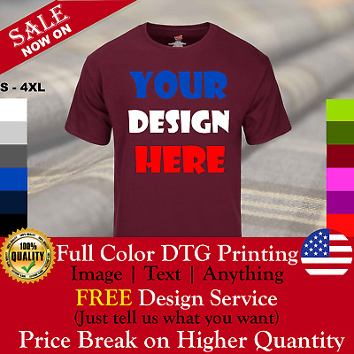 Personalized Custom Printed T Shirt - Your Own Design - FULL COLOR - Free Design