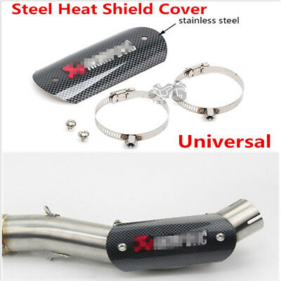Motorcycle Exhaust Muffler Pipe Heat Shield Link Tube Protector Cover Heel Guard
