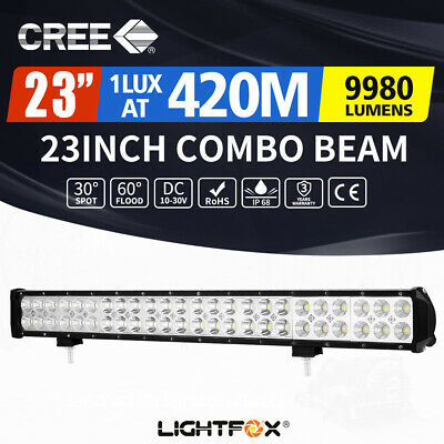 "23INCH OSRAM Slim LED Work Light Bar Spot Flood Combo 4WD 22/20"" Single Row 4x4"