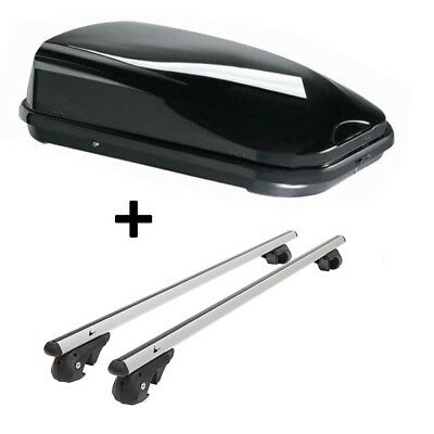 Roof Box vdpfl320l+Aluminum Roof Racks vdp004l BMW 5 SERIES TOURING SW E61 03-10
