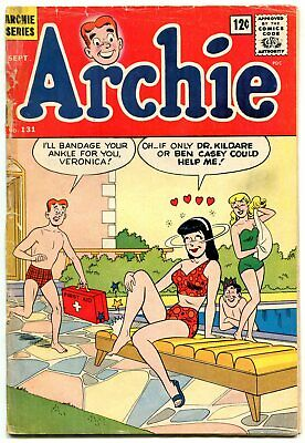 Archie #131 1962- Betty & Veronica- swimsuit cover F/G