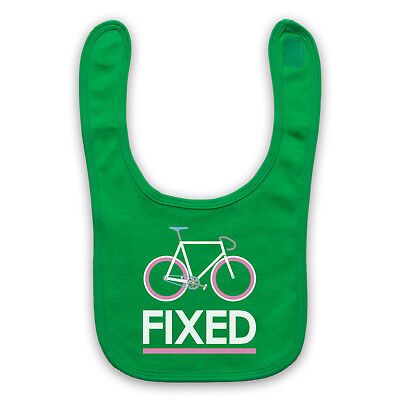 Fixed Gear Bicycle Fixie Retro Style Bike Riding Cycle Baby Bib Shower Gift