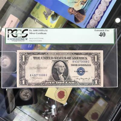 USA UNITED STATES 1935-A $1 Silver Certificate Banknote PCGS EF40