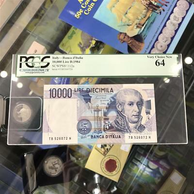 Bank of Italy 10,000 Lire 1984 Banknote PCGS Very Choice New 64 A. Volta P.112a