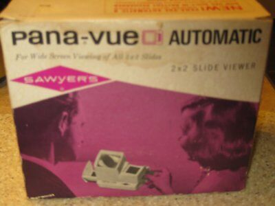 Sawyer's Pana-vue Automatic 2 x 2 Slide Viewer with power cord Original Box