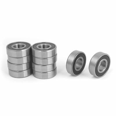 10pcs 6203RS 17mm Inner Dia 40mm OD Shielded Deep Groove Ball Bearing
