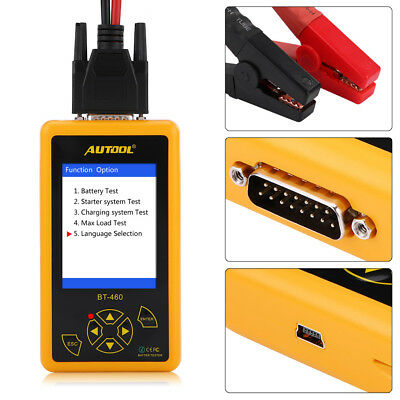 "4"" TFT Display Digital Battery Cell Tester Analyzer for 12V 24V Car Truck Auto"