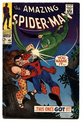 AMAZING SPIDER-MAN #49-FN comic book KRAVEN-VULTURE-MARVEL SILVER AGE