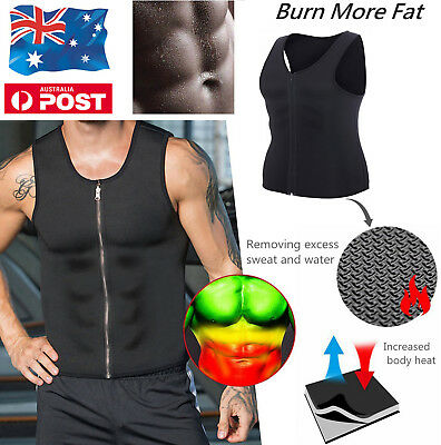 Hot Men's Neoprene Vest Slim Sport Fitness Body Shaper Shirt Sauna Sweat TOPS