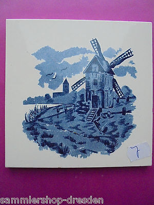 21069-7 Kachel Windmühle Fliese M* sehr gut tile wind mill very good prewar