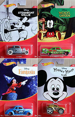 Walt Disney 90. Anniversary Set 4 Modellautos Mickey Mouse 1:64 Hot Wheels FKD66