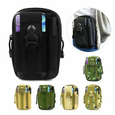 Tactical Waist Pack Belt Molle Bag Work Pouch Camping Hiking Wallet Phone Holder
