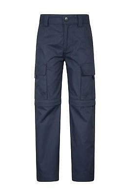 Mountain Warehouse Kids Zip-off Trousers Cotton/Polyester Fabric Blend