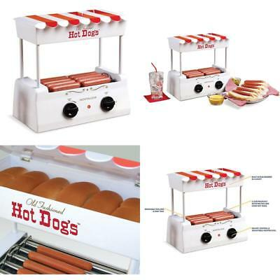 Vintage Hot Dog Roller Steamer Electric Grill Hot Dog Bun Warmer Cooker Machine