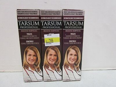 3 Tarsum Professional Medicated Shampoo/gel 4 Fl Oz Each  Mm 10015