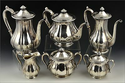 Early Arts & Crafts Arthur Stone Sterling Silver Tea Set 105+ Troy Oz