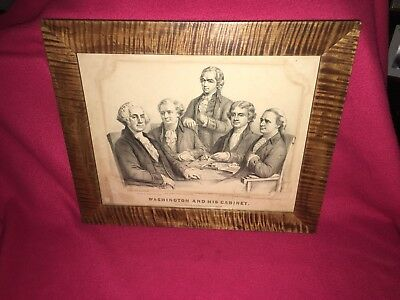 Original Currier & Ives Print Washington And His Cabinet Jefferson