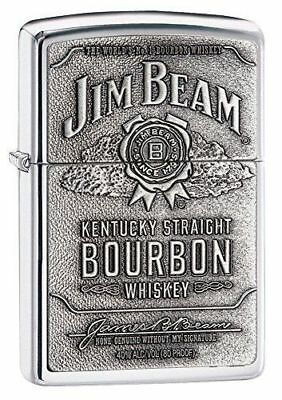 "Zippo ""Jim Beam Bourbon"" High Polish Chrome Finish Emblem Lighter, 250JB-928"